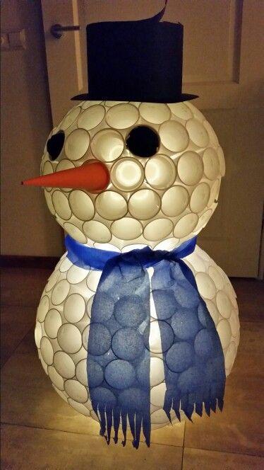 Lit Snowman