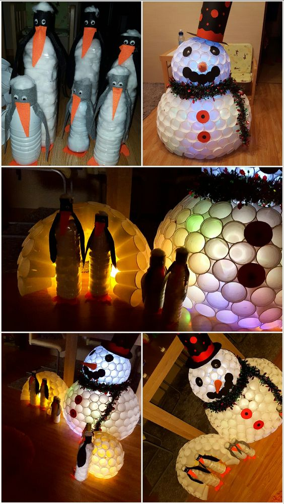 Plastic Cups Christmas Crafts