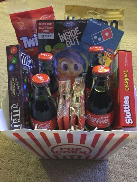 Themed gift baskets - Movie Night