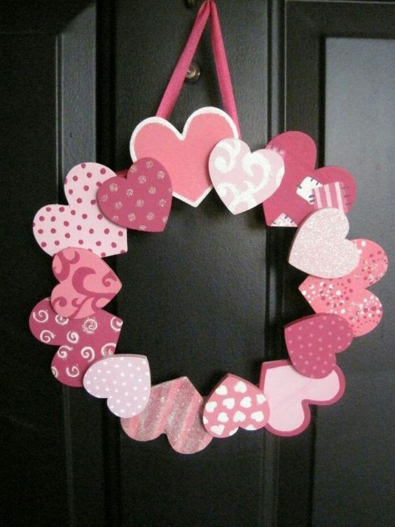 Patterned Heart Wreath