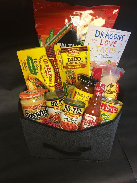 Themed gift baskets - Taco Night Gift Basket