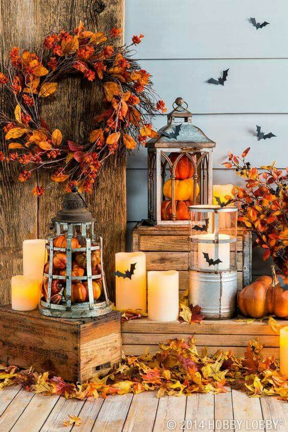 Autumn Spooky Porch Design