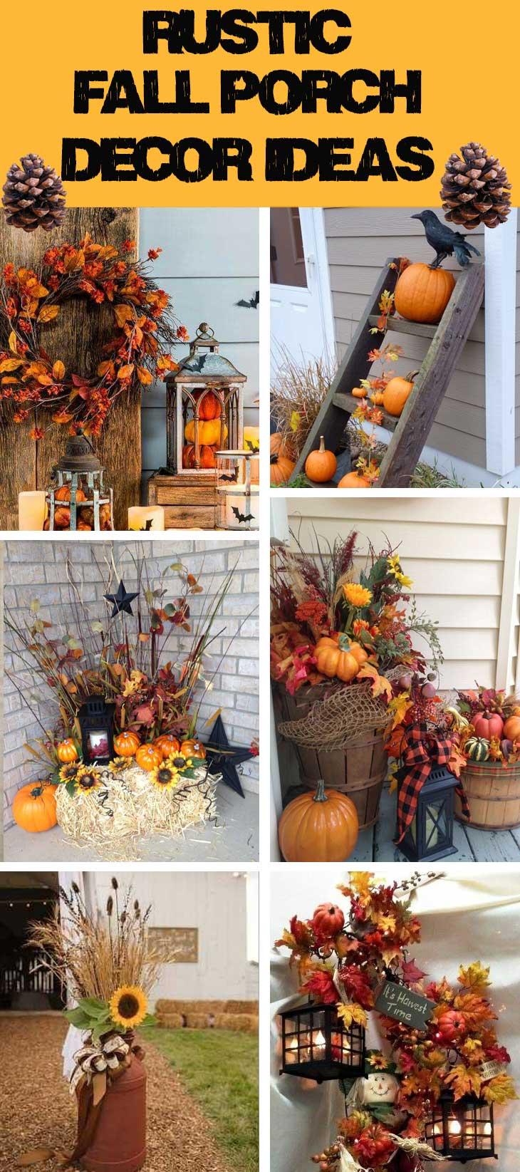 Rustic Fall Porch Decor Ideas Diy Sweetheart