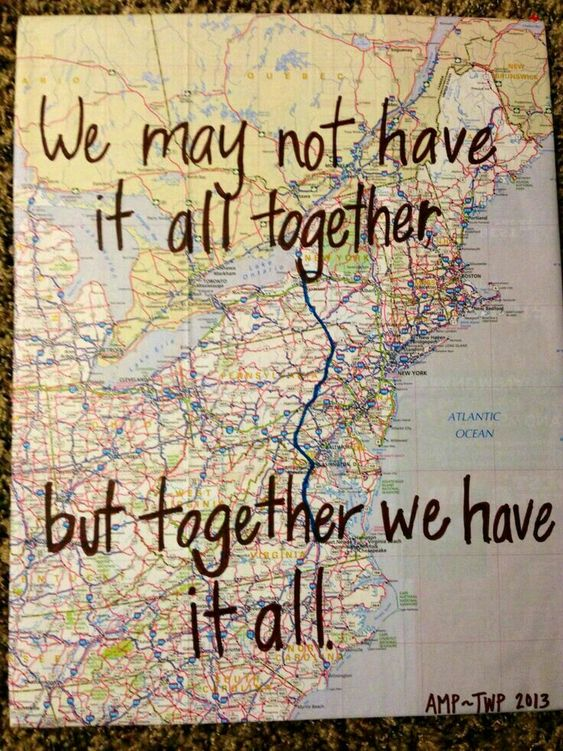 Map Quote Art