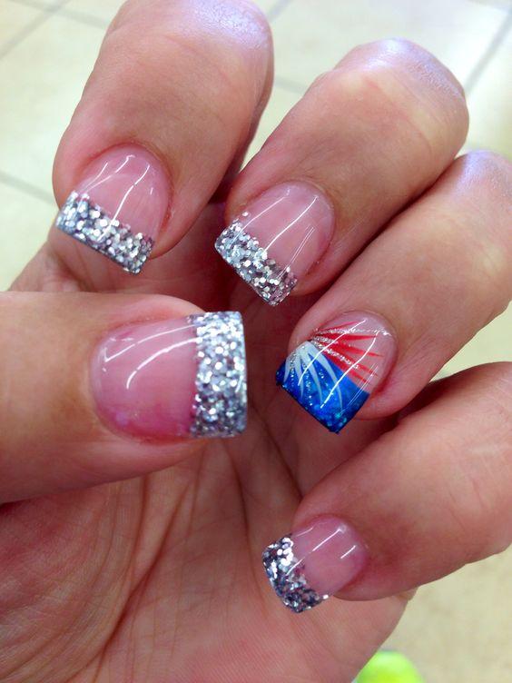 Silver Sparkle Tips