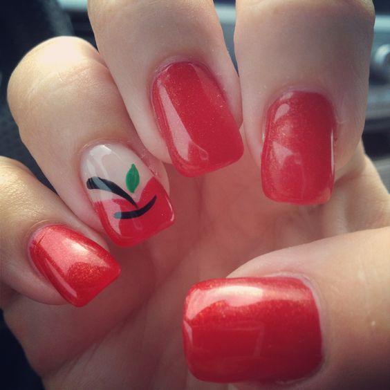 Apples Nail Art