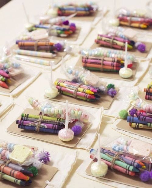 Crayon Favors