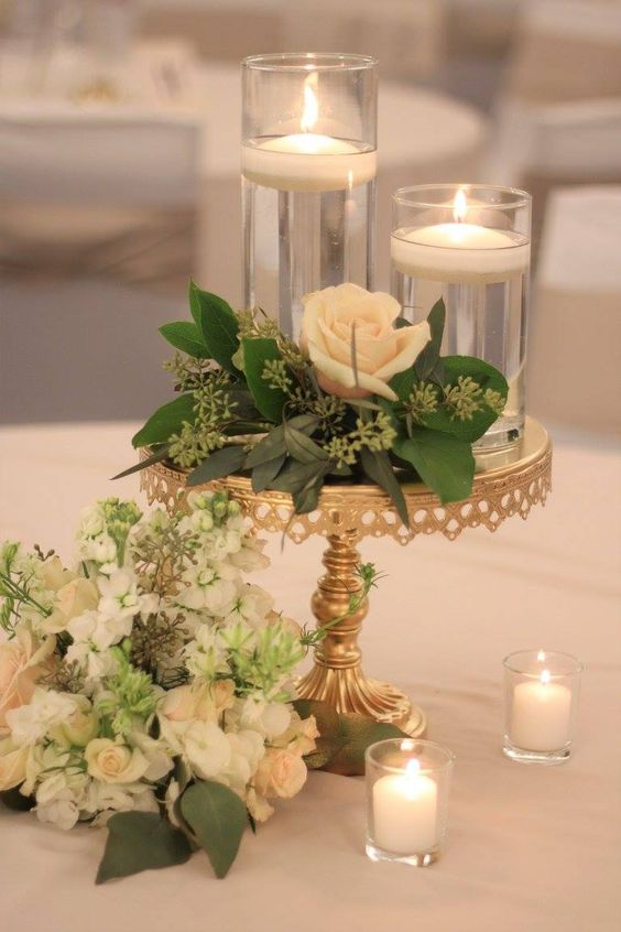 Green & Gold Centerpiece
