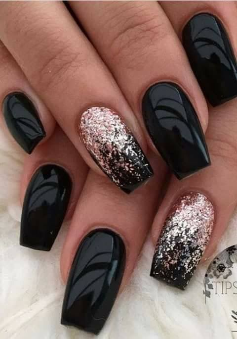 Black with Pink Glitter
