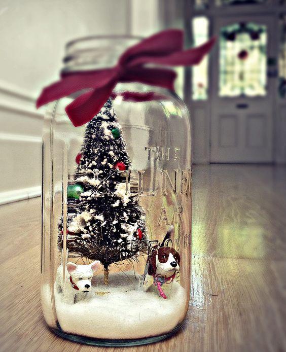Christmas Diorama in a Jar