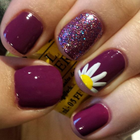 Burgundy with Daisy
