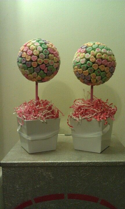 Valentine gifts for teacher - Conversation Heart Topiary