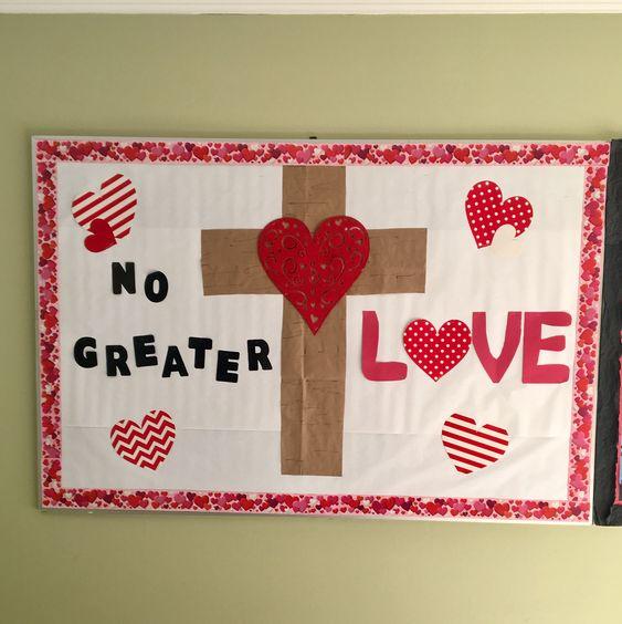 Valentines bulletin board #bulletinboards