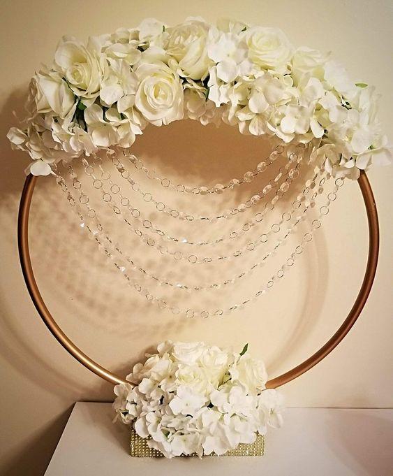 Floral Hula Hoop Ring