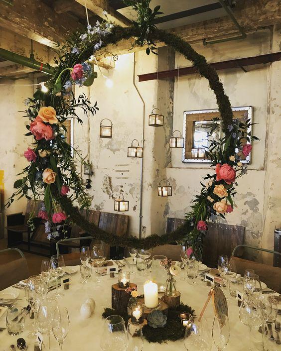 Floral Wedding Hoop