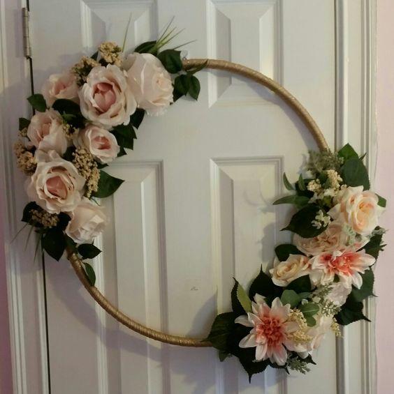 Hula Hoop Wreath