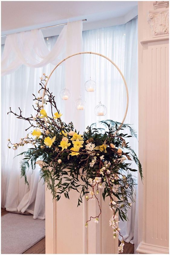 Spring Floral Hoops
