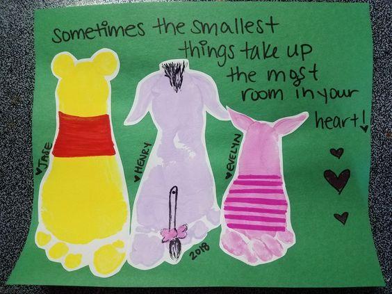 Winnie the Pooh Footprint Art