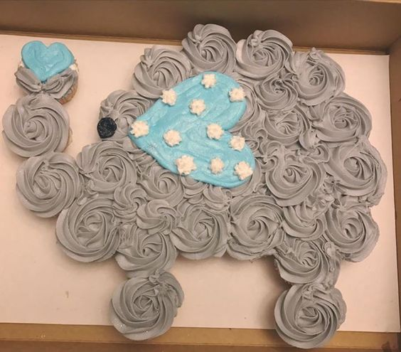 Elephant Heart Cupcakes
