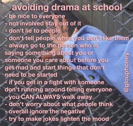 Avoiding Drama