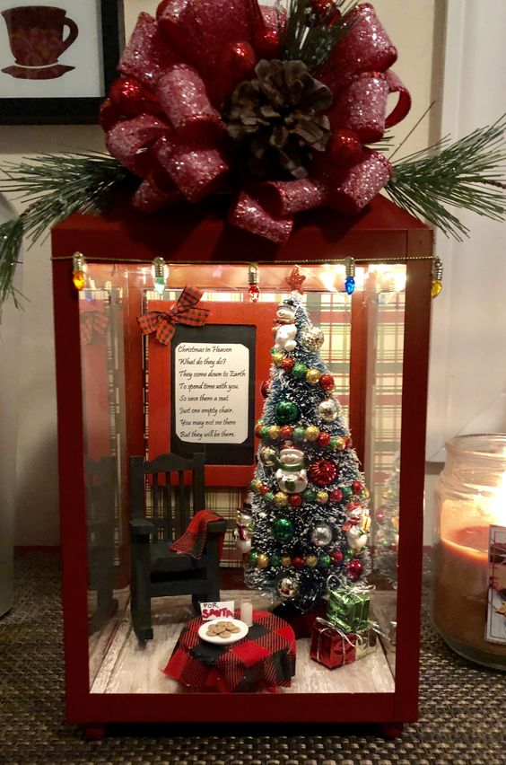 Christmas In Heaven Lantern with Santa's Cookies