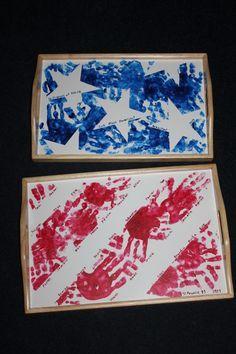 Hand Print Stars & Stripes