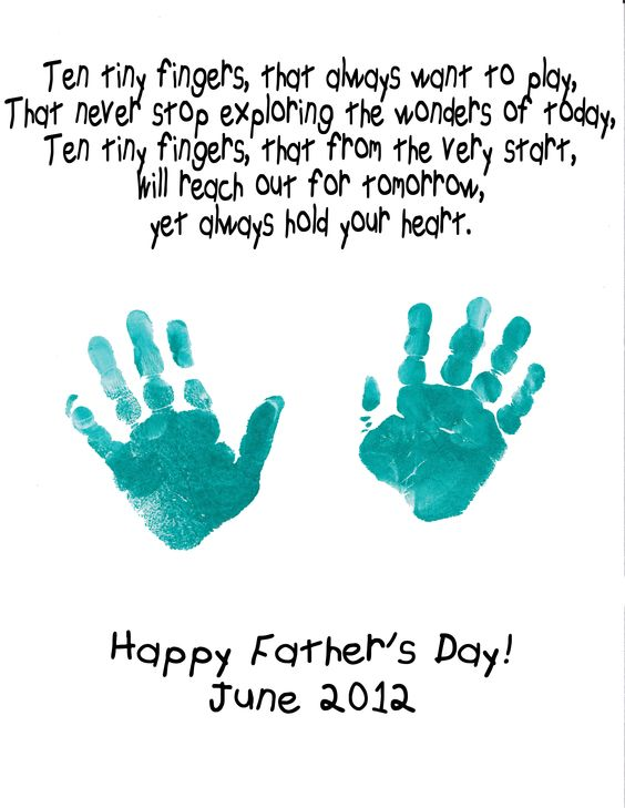 Happy Father's Day hand prints