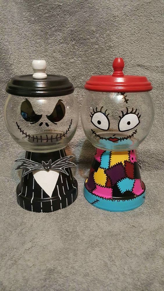 Jack and Sally candy dishes