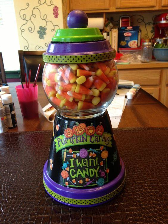 Terra Cotta candy jar