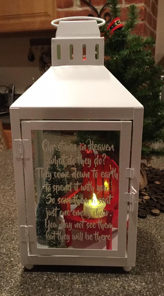 White Christmas in Heaven Lantern