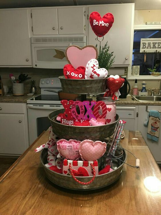 3 Tiered Valentines Tray