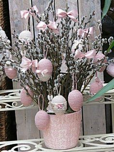 Easter shabby chic decoration