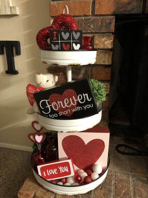 Valentines 3 Tier Tray