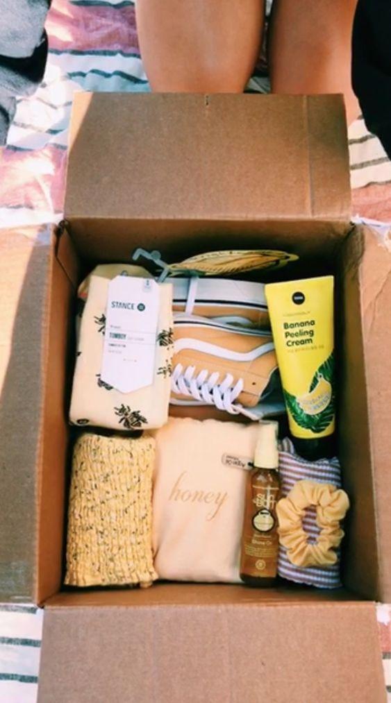 Birthday Gift Baskets - All Yellow