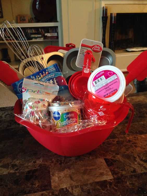 Birthday Gift Baskets - Cupcake gift basket