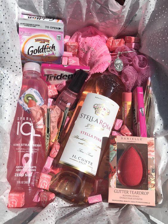 Birthday Gift Baskets - Everything pink gift box