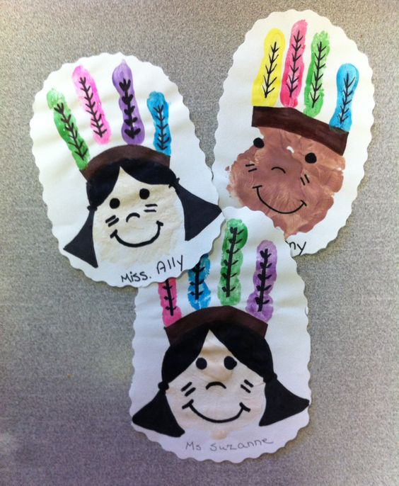 Thanksgiving Crafts for Kids to Make - Indian Handprint Craft
