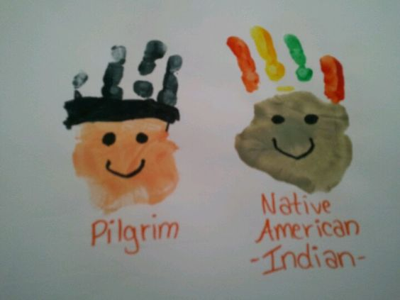 Pilgrim & Indian Hand Prints