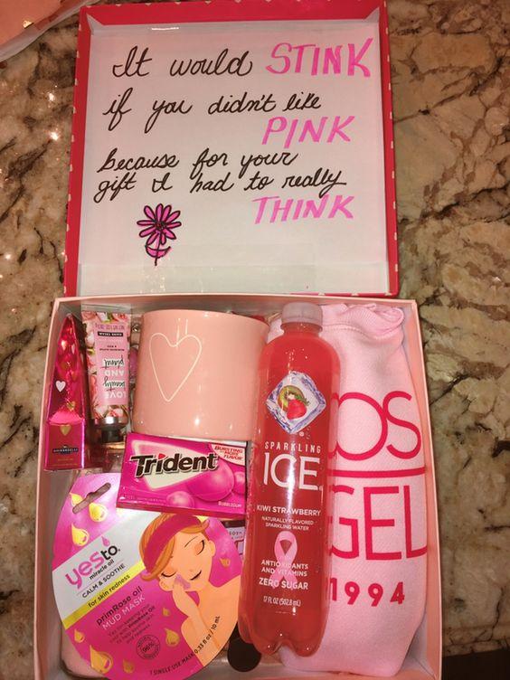 Birthday Gift Baskets - Pink Gift Box