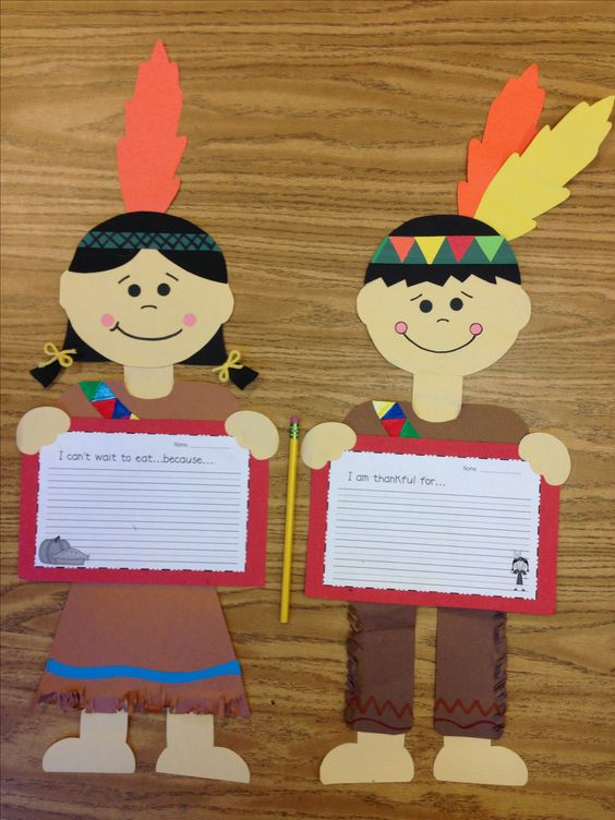 Thanksgiving Indian boy and Indian girl craft