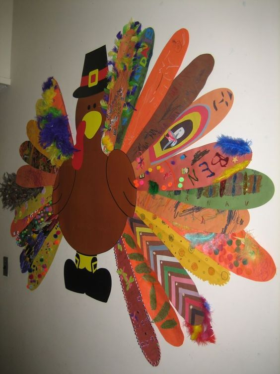 Thanksgiving Crafts for Kids to Make - Turkey Feathers