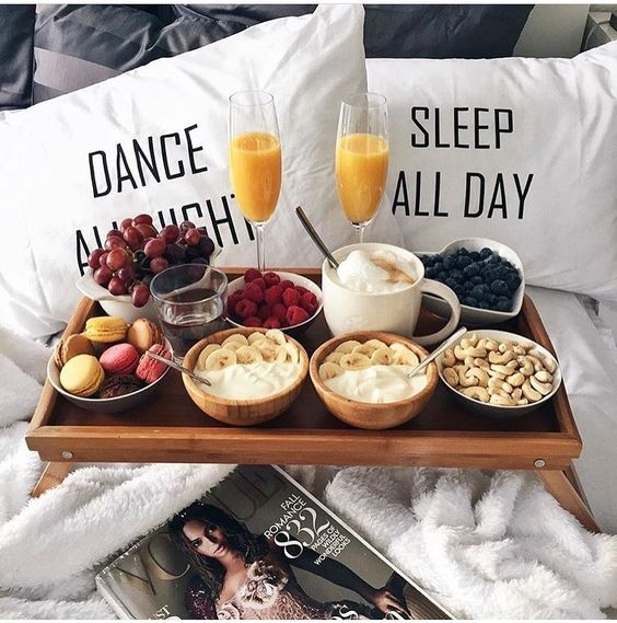 Breakfast in Bed for Valentines Day