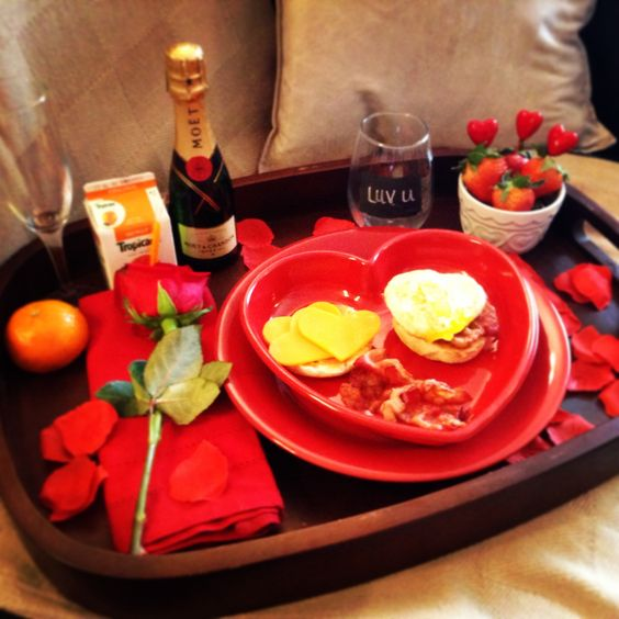Breakfast in bed #valentines