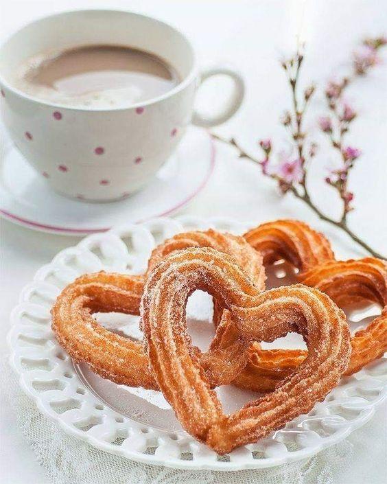 Heart Shaped Churros #valentines #breakfast