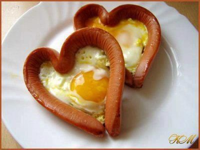 Hearty Sausage & Eggs #valentines #breakfast