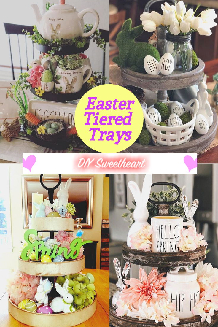 Tiered Tray Easter Decor